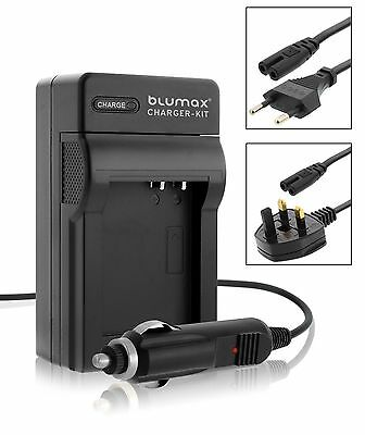 Mains & Car Charger For Olympus PS BLM1 BLM-1 E-520 E-510 E-500 E-5 E-3 Battery • 9.95£
