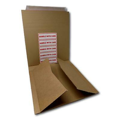 £8.20 • Buy 12  125gsm B-Flute Record LP Strong Peel Seal Corrugated Card Brown Mailers