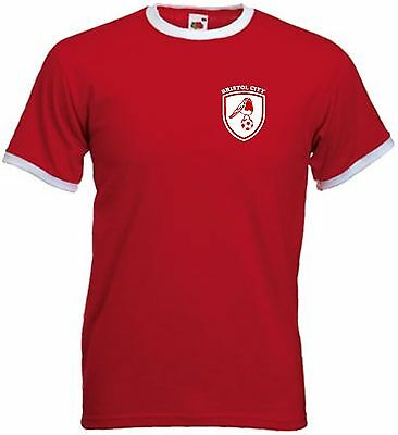 £10.99 • Buy Bristol City FC Retro Style Football Club Soccer T-Shirt - All Sizes Available