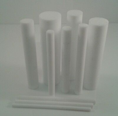 Acetal & Ptfe Round Bars Rod In Natural & Black 200mm To 600mm Long Lengths • 6.18£