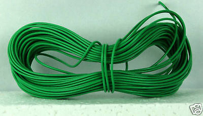 Model Railway Peco Or Hornby Point Motor Etc Wire 1 X 5m Roll 7/0.2mm 1.4A Green • 2£