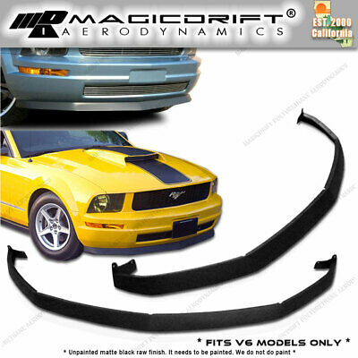$99.88 • Buy 05-09 Ford Mustang V6 Sports Front Lower Valance Spoiler Splitter Lip URETHANE