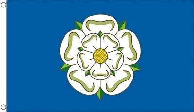 Yorkshire Flag 5 X 3 FT - 100% Polyester With Eyelets - Flag - English County  • 4.99£