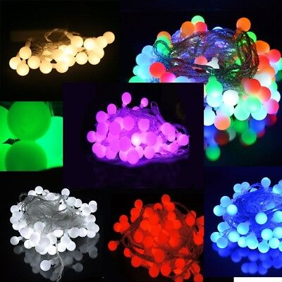 Battery Powered Berry Ball Shaped LED Fairy Lights 20, 40 LEDs Wedding Party • 6.99£