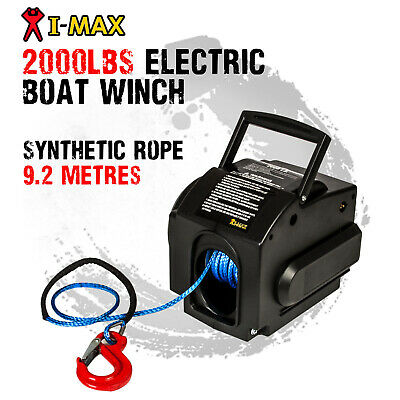 AU139 • Buy I-MAX 12V 2000LBS Portable Electric Synthetic Rope Boat Winch ATV Quad 4WD 4x4