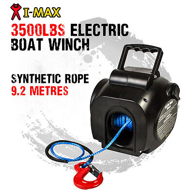 AU159 • Buy I-MAX 12V 3500LBS Portable Electric Synthetic Boat Winch Trailer ATV 4WD 4x4