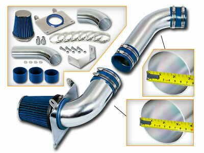 $69.99 • Buy BLUE COLD AIR INTAKE SYSTEM + FILTER FOR 87-88 Mustang 5.0L V8 (Non-MAF) LX GT