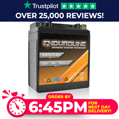 YTX7L-BS High Power Enduroline Motorcycle Bike Battery - More Power Than Lithium • 37.95£