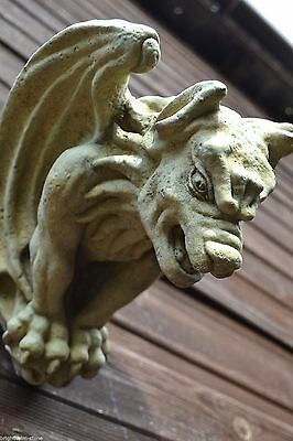 Gargoyle Gothic Wall Plaque  Ghost Buster  Frost Proof Stone Garden Ornament  • 19.99£
