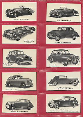 Kellogg Ltd. -  Rare  Set  Of 40  Motor  Cars  ( Black & White )  Cards  -  1949 • 85£