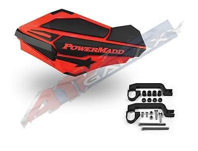$68 • Buy PowerMadd SENTINEL Handguard Guards KIT Red Black TRX 400EX 450R 250R 700XX