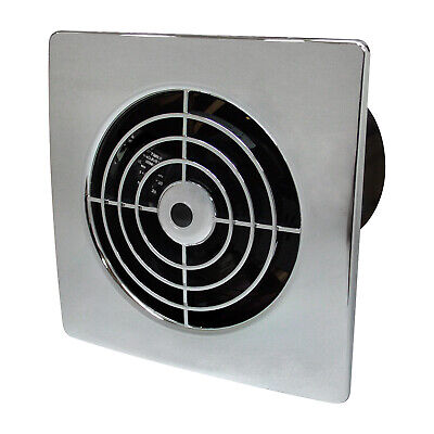 £23.95 • Buy 4  Manrose Chrome Bathroom Toilet Timer Extractor Fan Wall Lp100stc Lo Profile