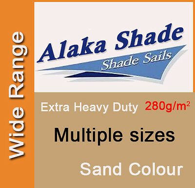 AU103.90 • Buy Extra Heavy Duty Shade Sail ShadeCloth Sand Sun Canopy Triangle Square Rectangle