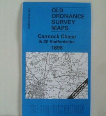 Old O S Maps Cannock Chase & SE Staffordshire & Plan Cheslyn Hay 1898 Offer  • 2.85£