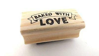East Of India Rubber Stamp - BAKED WITH LOVE • 3.25£