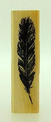 East Of India Rubber Craft Design Stamp FEATHER • 3.20£