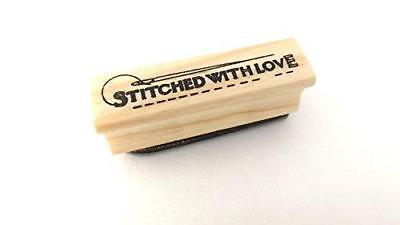 East Of India Rubber Stamp - STITCHED WITH LOVE • 3.25£