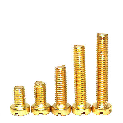 £4.59 • Buy M2 & M2.5 Solid Brass Metric Slotted Cheese Head Machine Screws / Bolts Din84