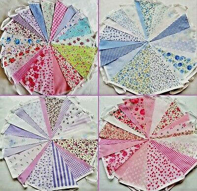 £5.50 • Buy Fabric Bunting Wedding Vintage Shabby & Chic Handmade Floral Lace 10/20