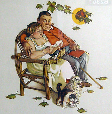 $ CDN5103.60 • Buy Norman Rockwell        Four Ages Love, Fondly Do We Remember     MAKE  OFFER DDS