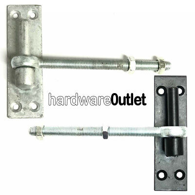 £12.67 • Buy 1 Pair - 12 Mm Gate HINGE PINS + EYE BOLTS For Band & Hook Hinges Galv & Black