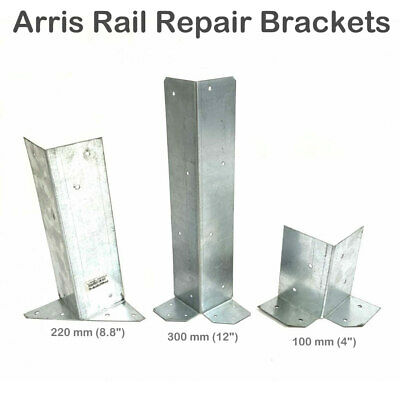 £41.29 • Buy No 475 3  Galv ARRIS RAIL REPAIR BRACKETS 100, 220 & 300 Mm Timber Fence Fencing