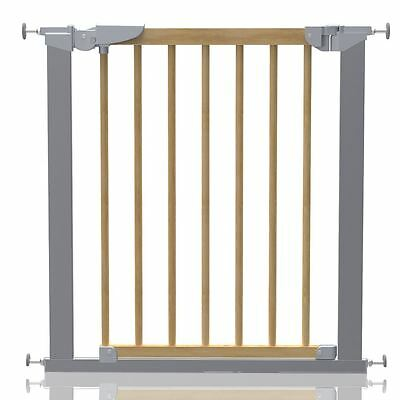 Safetots Premium Pressure Fit Wooden Stair Gate Wood Baby Gate  71.3-117.1cm • 46.90£