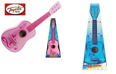 23  Wooden Guitar Children Musical Toy Instrument Blue Or Pink Gift For Kids New • 14.99£