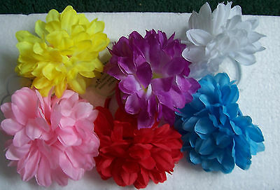 $ CDN2.68 • Buy 2 X Flower Ponios Bobbles Hair Accessories Elastics Ladies Girls Mixed Colours