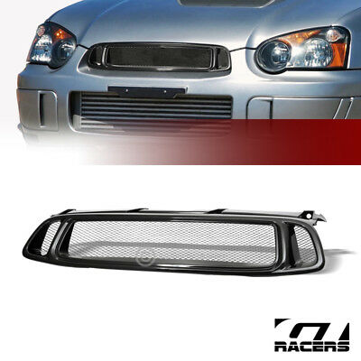 $47 • Buy For 2004-2005 Impreza Wrx Black Aluminum Mesh Front Hood Bumper Grill Grille ABS