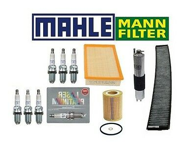 $134.76 • Buy For BMW E46 3-Series Complete OEM Tune Up Oil Air Gas Charcoal Cabin Filter NGK
