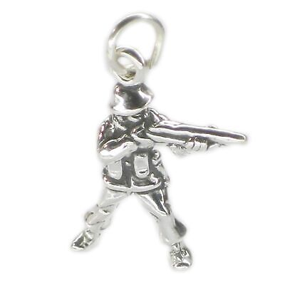 Soldier Sterling Silver Charm .925 X 1 Soldiers War Battle Charms • 10.25£