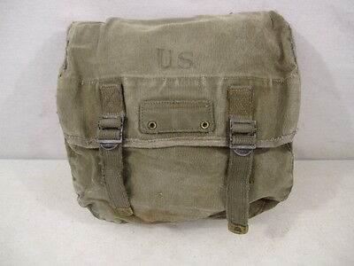 $51.99 • Buy WWII Era US Army/USMC M1936 Canvas Musette Bag - OD Green Color - Good Condition