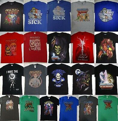 $20.75 • Buy He Man Masters Of The Universe Group Skeletor Beast Man Orko Battle Cat T-Shirt