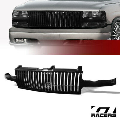 $73 • Buy For 1999-2006 Chevy Silverado Tahoe Suburban Black Vertical Front Bumper Grille