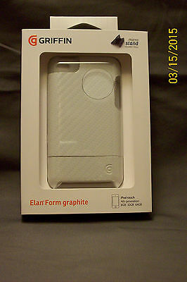 Griffin Elan Form Case Graphite Hard Cover Micro Stand Apple IPod Touch 4th Gen • 8.51£