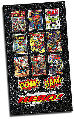 Marvel Comic Book Collage Picture Canvas Print • 20.12£