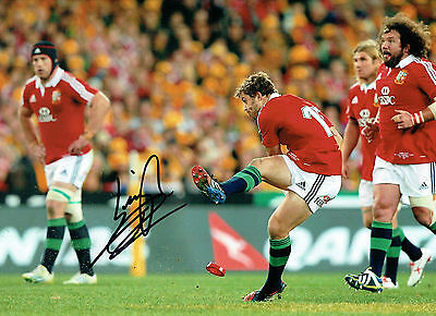 £149.99 • Buy Leigh HALFPENNY Signed Autograph British LIONS RUGBY 16x12 Photo AFTAL COA