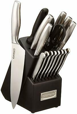 View Details Cuisinart 17 Piece Artiste Collection Cutlery Knife Block Set, Stainless Steel • 59.99$