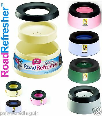 Road Refresher Non Spill Dog Puppy Pet Travel Water Bowl Small & Large Free Post • 13.99£