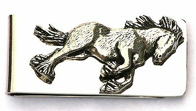 Shire Horse Pewter Emblem Money Clip FREE ENGRAVING Farming Present Gift  327 • 14.99£