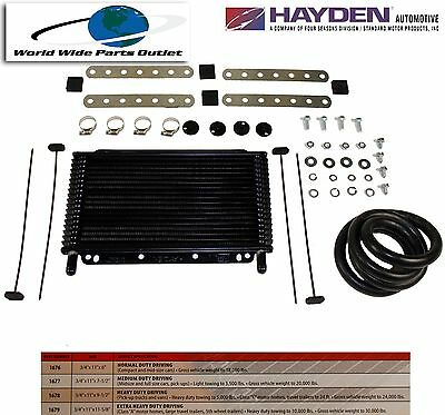 $48.60 • Buy Automatic Transmission Oil Cooler Hayden 677/OC-1677  Plate And Fin Type