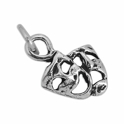 £7.15 • Buy Small Sterling Silver Comedy & Tragedy Mask Theatre Charm