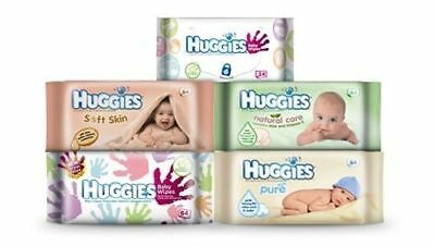 AU22.99 • Buy Huggies Wipes (Pure,Natural Care,Everyday,Soft Skin Baby Wipes )
