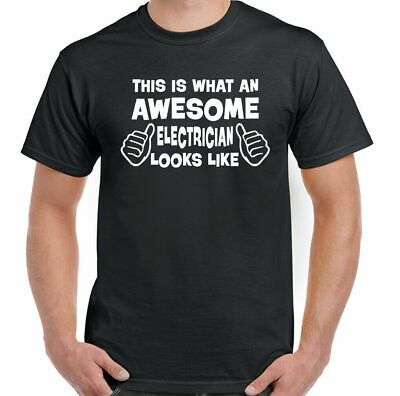 £9.94 • Buy Awesome Electrician -  Mens Funny T-Shirt Sparky Tradesman