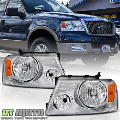 $72.99 • Buy 2004-2008 Ford F-150 F150 Pickup Headlights Headlamps Left+Right Pair 2005 2006