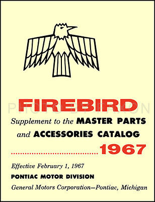 $39 • Buy 1967 Pontiac Firebird Illustrated Parts Book Catalog With Part Numbers