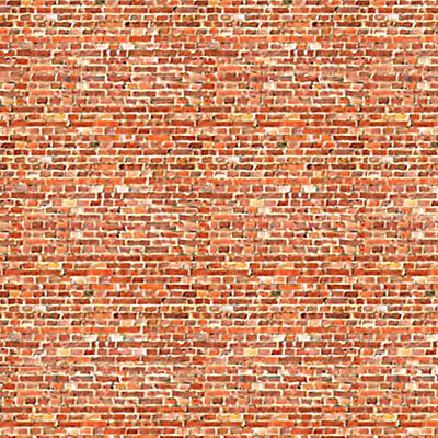 ID Backscenes BM008A Light Red Brick 10 Printed Self-Adhesive Sheets 00 Gauge 1s • 9.99£