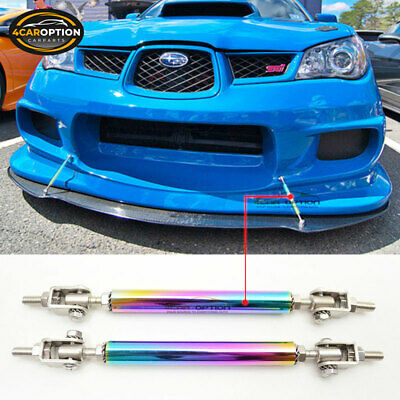 $17.99 • Buy Neo Chrome Front Bumper Splitter Rod Support Stabalizer 5.5 Inch-8 Inch Steel