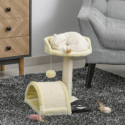 PawHut Cat Tree Condo Furniture Scratching Post Scratcher Pet Bed House Play Toy • 19.99£
